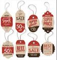 paper price tag retro vintage style design vector image vector image