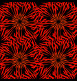 pattern of kaleidoscopic ornaments of red and vector image