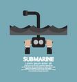 Periscope Of Submarine Under The Ocean