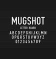 police mugshot font vector image
