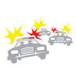 police raid cops on cars with flashing lights vector image