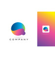 q logo letter with rainbow vibrant beautiful vector image vector image