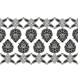 Seamless victorian floral border vector image vector image
