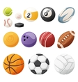 Set of balls isolated vector image vector image