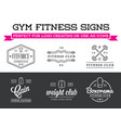 set of fitness aerobics gym elements and logotype vector image vector image
