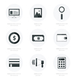 Set of flat design icons black color styles vector image