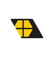 simple shine window home geometric logo vector image vector image