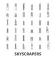 skyscrapers building skyline city sky vector image