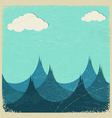 stormy sea and clouds vector image vector image