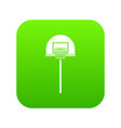 street basketball hoop icon digital green vector image