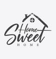 typography quote home sweet home vector image vector image