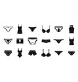 underwear icon set simple style vector image vector image