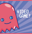 videogame ghost cartoon vector image