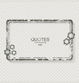 vintage frame with flowers with copy space vector image vector image