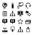 Web internet simple black icons set vector image vector image