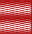 white hearts on red background pattern vector image vector image