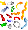3d vector arrow collection vector image