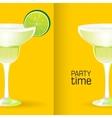 Margarita realistic cocktail vector image