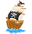 Pirate ship vector image