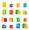 colorful empty shopping bags isolated set vector image