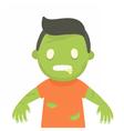 Cute zombie portrait Halloween vector image