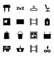 16 empty icons vector image vector image