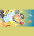 3d conceptual of vpn - virtual vector image