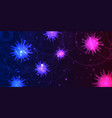 abstract banner design with virus cells depicting vector image vector image