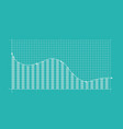abstract financial chart vector image vector image