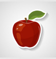 apple sticker cartoon sticker vector image