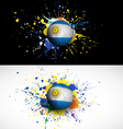 argentina flag with soccer ball dash on colorful vector image vector image