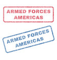 armed forces americas textile stamps vector image vector image