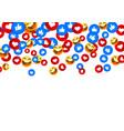 banner fly like emoji hand social network white vector image vector image