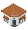 books shop building icon isometric style vector image