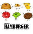cartoon of hamburger vector image vector image