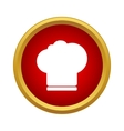 Chef hat icon in simple style vector image vector image