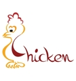 Chicken symbol vector image
