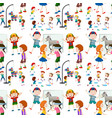 children activity seamless pattern vector image vector image
