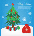 christmas greeting card with merry christmas vector image vector image