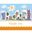 City doodle poster vector image vector image