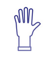 cleaning rubber glove laundry housework icon vector image