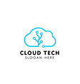 cloud tech logo design template icon vector image
