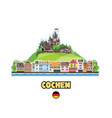 cochem old town in germany skyline with castle vector image vector image