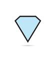 diamond blue crystal vector image