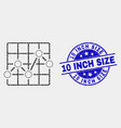 dot chart grid icon and scratched 10 inch vector image vector image