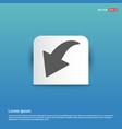 down arrow icon - blue sticker button vector image vector image