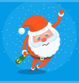 drunk miserable tired santa claus character vector image