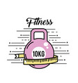 dumbbell with meter to healthy lifestyle vector image vector image