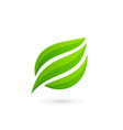 eco leaves logo icon design template elements vector image vector image