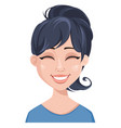facial expression of a woman - laughing vector image vector image